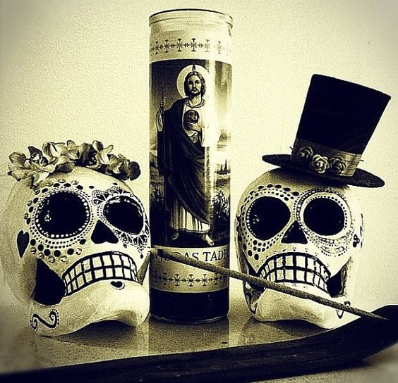 Halloween Wedding Altar: Dia De Los Muertos Sugar Skull Wedding -Rush For Kristine