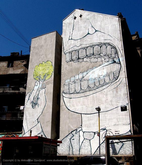 Beogradski grafiti.: Drvojed / BLU #Beograd #Belgrade #Graffiti #Grafiti #StreetArt