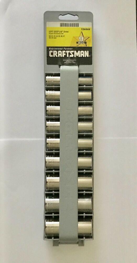 "Craftsman Deep Chrome Socket Set 3//8/"" Drive 8 Piece 12 Pt Point SAE Inch"