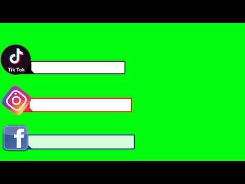 Green Screen Social Media Button Youtube Subscribe Tiktok Instagram Facebook No Copyright Yo In 2021 Greenscreen Facebook And Instagram Logo Instagram Logo