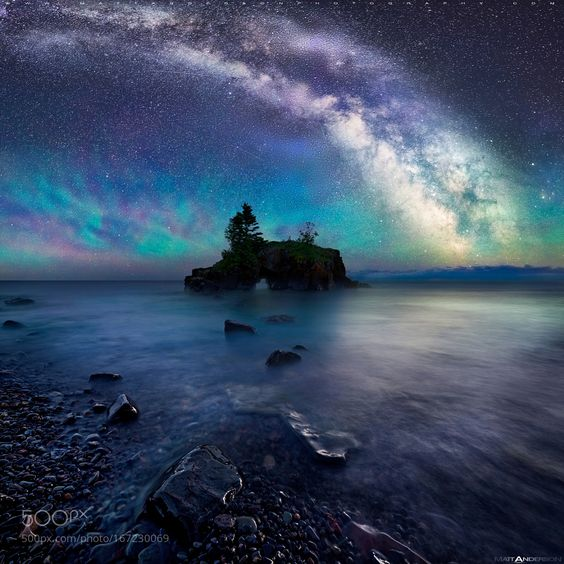 (Please view on black) Milky Way Over Hollow Rock by matt-anderson. Please Like http://fb.me/go4photos and Follow @go4fotos Thank You. :-)