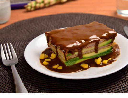 Milanesas en Mole Poblano con Chocolate b