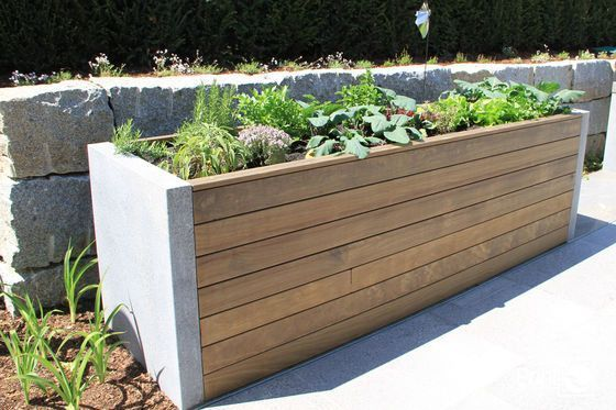 Raised Bed Wood And Stone In 2020 Cottage Garden Design Raised Garden Beds Raised Garden
