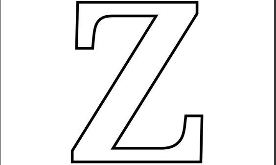 Letras Goticas Para Imprimir: Imprimir Letra Z Para Recortar Colorear