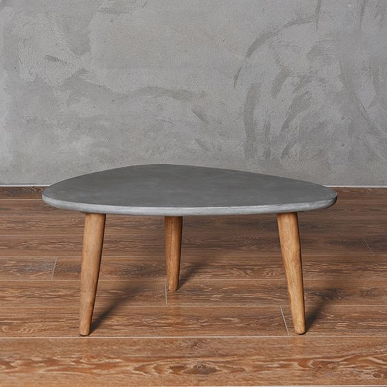Muebles de estilo loft mesa de madera moderna sala de estar ...