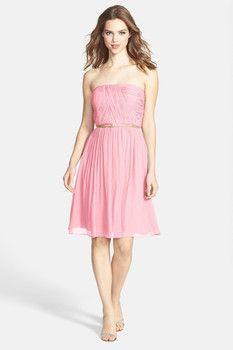 Donna Morgan 'Donna' Belted Chiffon Dress
