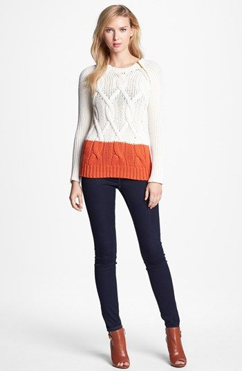 MICHAEL Michael Kors Colorblock Sweater & Skinny Jeans available ...