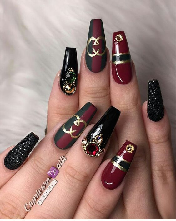 120 Best Coffin Nails Ideas That Suit Everyone Gucci Nails Trendy Nails Stiletto Nails