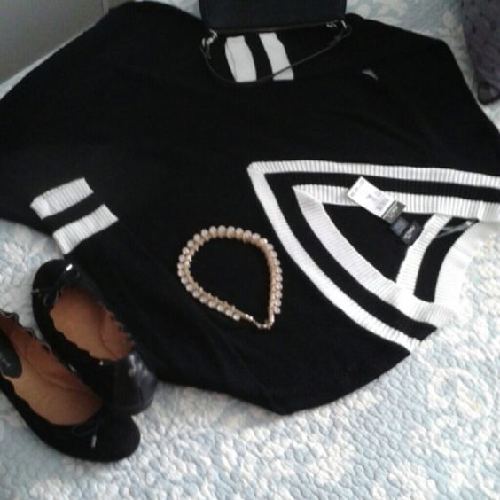 Black Fall Look Black sweater XL Black ballet slippers 9m Beautiful black COACH BAG..Great gold necklace. ANTONIO MELANI Other