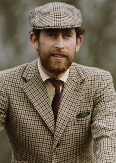 Prince Charles, with the beard he had for a time while in the Royal Navy.: