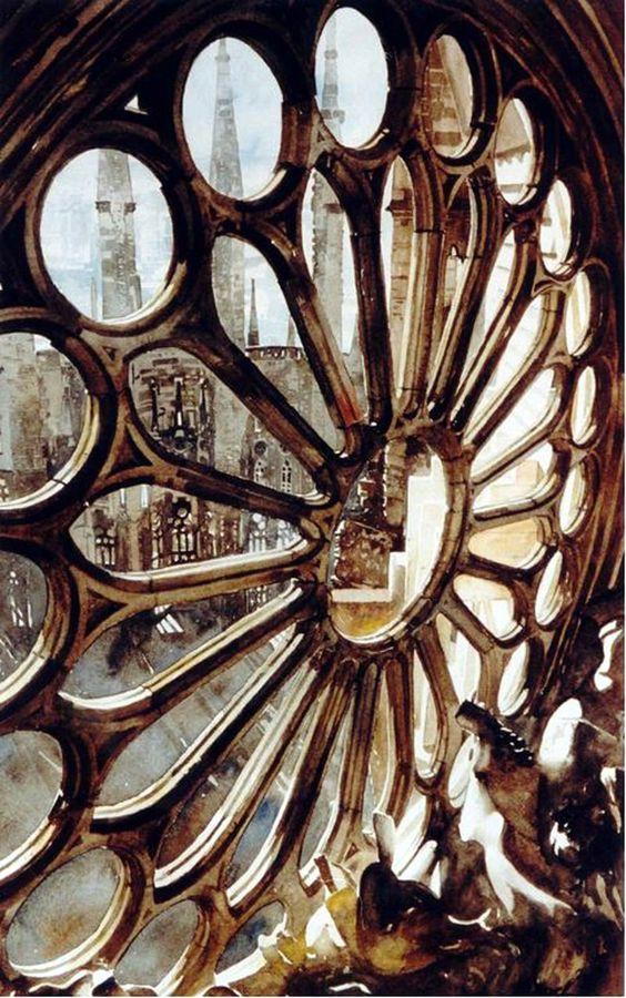 Rosace, Sagrada Familia, Barcelona, by Paul Dmoch.