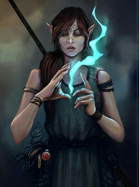 Damaran Female Elf Sorcerer