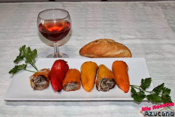 Mis Recetas: Mini Pimientos rellenos de patata y morcilla