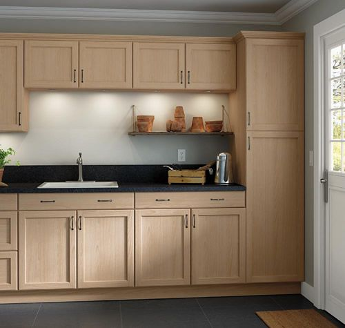 Home Depot Easthaven Shaker Unfinished Cabinets With Clear Finish It Really Does Look Just As Good I Have To K In 2020 Kitchen Cabinets Stock Kitchen Cabinets Home