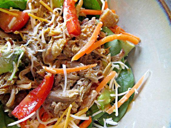 Carnitas Salad by Sweet Beginnings Blog, via Flickr