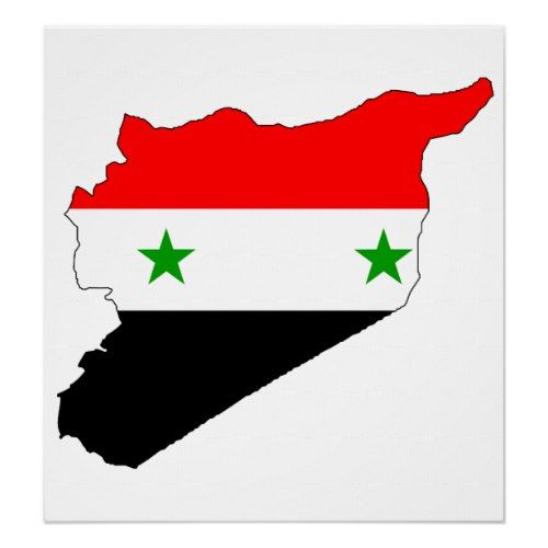 Syria Flag Map Full Size Poster Poster Prints Map Poster Syria Flag