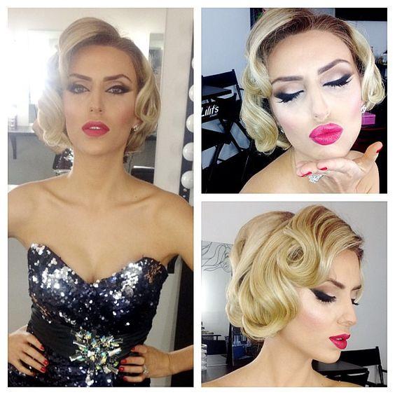 #oldhollywood #beauty #era #foundation #airbrush #blush #smashbox #contour #highlight #mac #eyeshadow #smashbox #urbandecay #styledbyhrush #hair #updo #blonde #glamorous #vintage #eyes #lips #makeup #mua - @styledbyhrush