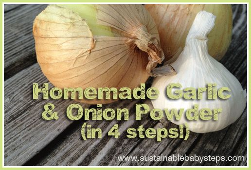 Homemade garlic powder and onion powder