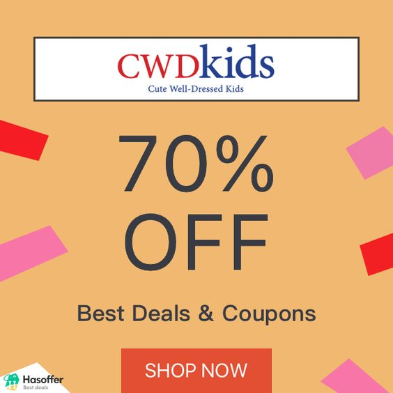 hasoffer Cwdkids 70% OFF Coupons Deals