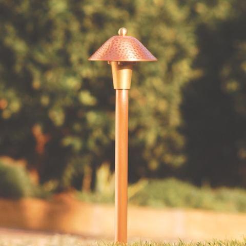 Spj Lighting Path Light Compact Textured Brass Or Copper Hpl 5