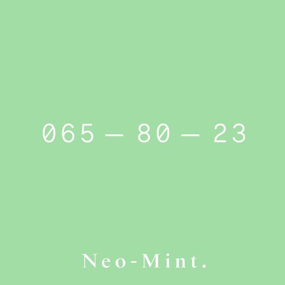 065 80 23 || Neo Mint - The S/S 2020 Color, from our sister company @wgsn || #coloro #neomint #ss2020 #colorforecasting #trendforecasting…