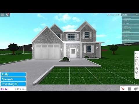 2 Story Modern House Bloxburg Speed Build 10k No Decor Youtube In 2020 House Blueprints House Tiny House Layout