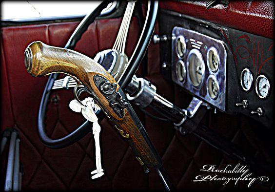 Badass Shift Knobs >> Pirate gun shifter... Rockabilly Photography © | Hot Rods ...