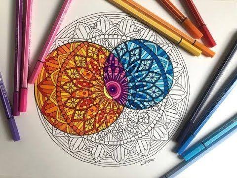 Tuto Faire Un Mandala Coloriage Youtube Mandala Pen Supplies