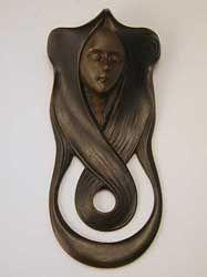Art nouveau lady doorbell cover