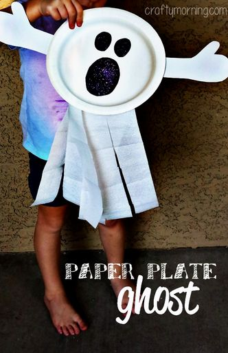 Ghost crafts, Paper plates and Halloween crafts for kids ...