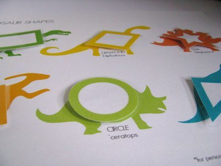 teaching kids shapes and colors and dinasours