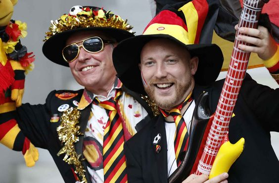 German fans wait for the start of the Euro 2016 round of 16 soccer match between Germany and Slovakia, at the Pierre Mauroy stadium in Villeneuve d'Ascq, near Lille, France, Sunday, June 26, 2016. (AP Photo/ Michel Spingler)/DA101/629487603056/1606261756