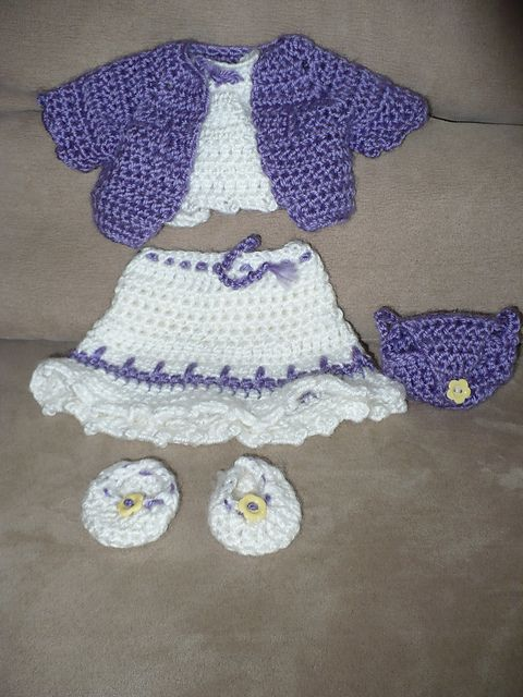 Crochet Pattern Doll Sweater : Youthful Memories by darski pattern is included American ...