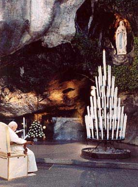 Shrine At Lourdes France | John Paul II in Lourdes, France