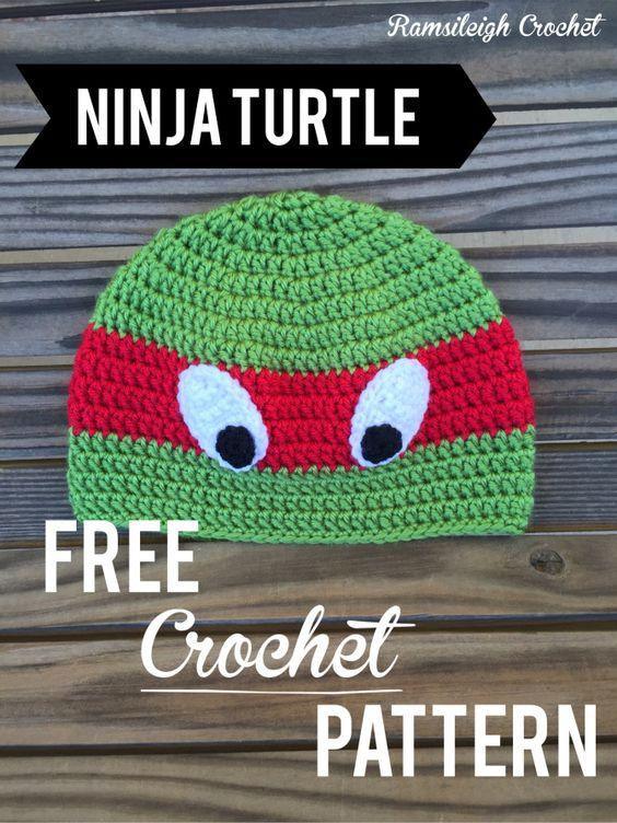 Free Crochet Pattern For Ninja Turtle Hat : Ninja turtle hat {free pattern} Crochet patterns ...