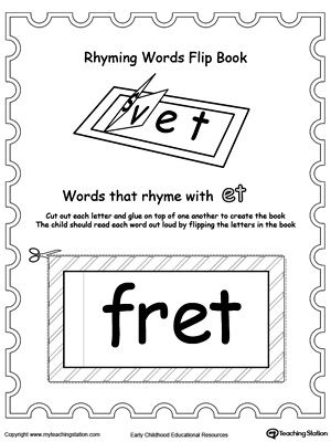 5 letter words that start with et printable rhyming words flip book et word families the 28238 | 09341bb8075c0341550a79c633a0ce5b