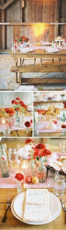 country wedding like the menu idea