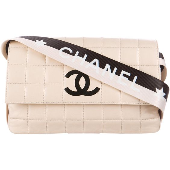 Pre-owned Chanel Sport Square Quilt Flap ($1,595) ❤ liked on Polyvore featuring bags, handbags, shoulder bags, neutrals, chanel handbags, pink handbags, shoulder handbags, preowned handbags and sports shoulder bag