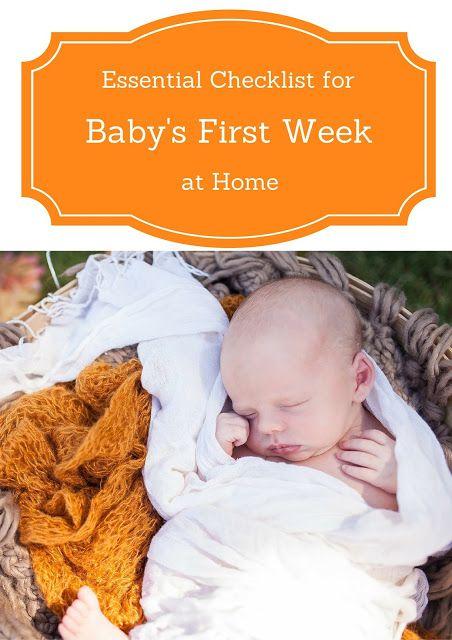 The First Weeks After Baby Essentials Checklist #newbornchecklist #babypreparation