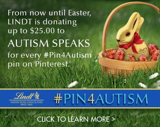 #Pin4Autism UPDATE: We are now donating $ 10 for every re-pin.  We are committed to meeting our $ 10K donation goal and need only 652 #Pin4Autism re-pins before Easter to meet our $ 10K mark.  Please share with family and friends! Thank you to all who have participated.