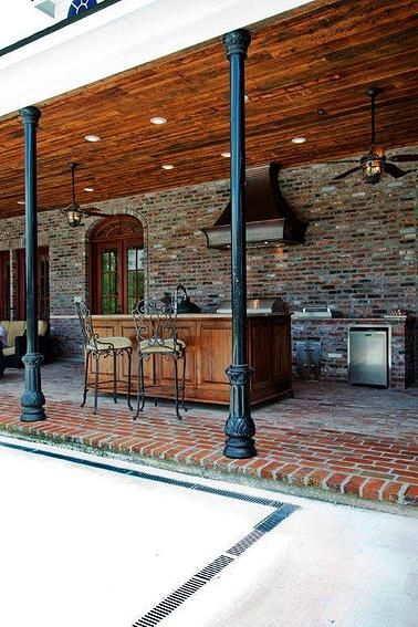 Madden home design french country house plans acadian for Outdoor kitchen brick design