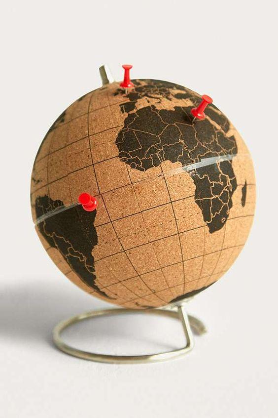 Slide View: 1: Mini globe en liège