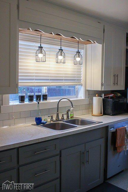 kitchen sink lighting above sink lighting