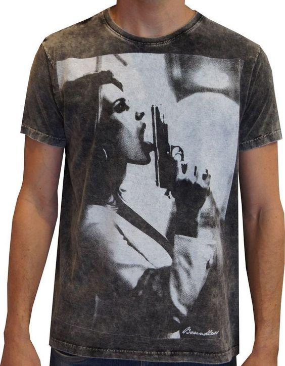 T-shirt Boundless Mulher com revolver