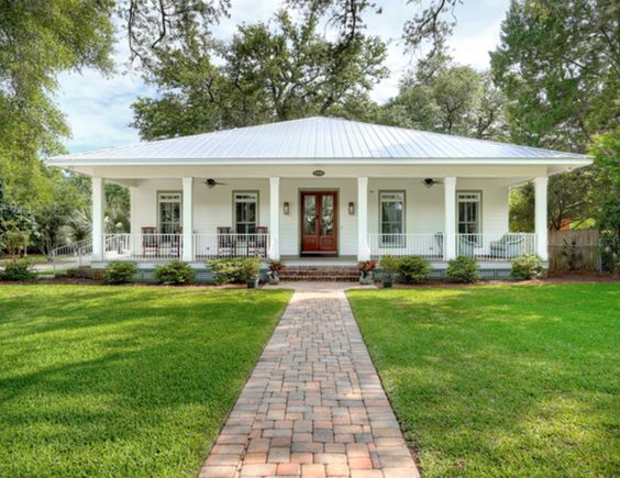 White house metal roof exteriors pinterest cottages metals and search - Paint for exterior metal pict ...