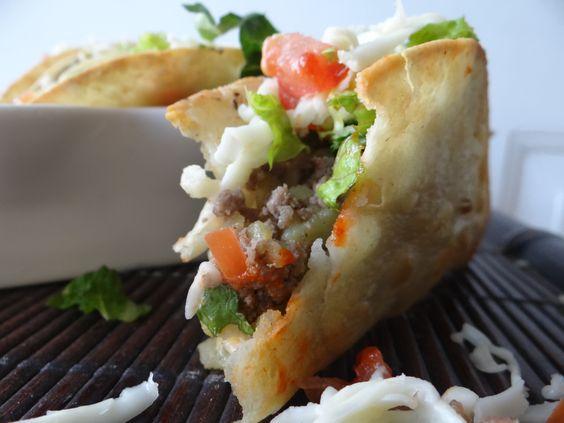 Potato & ground beef tacos