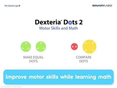 Dexteria Dots 2 - Fine Motor Skills and Math Concepts - 2 mini-games for math concepts and motor skills practice. Appysmarts score: 90/100