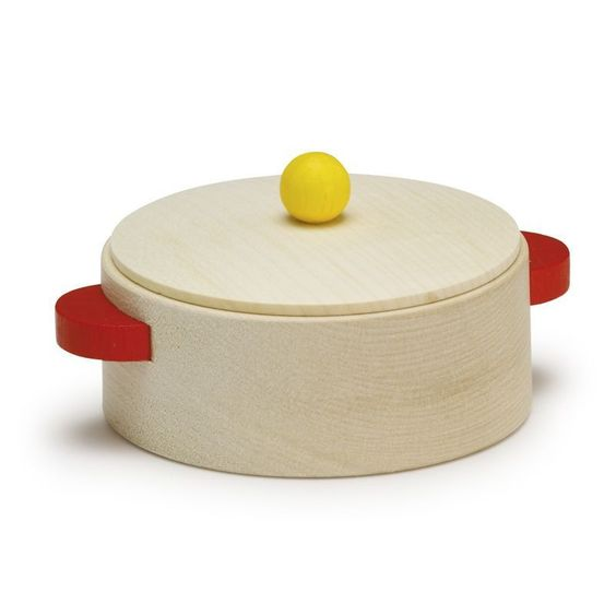 Wooden Toy Cooking Pot