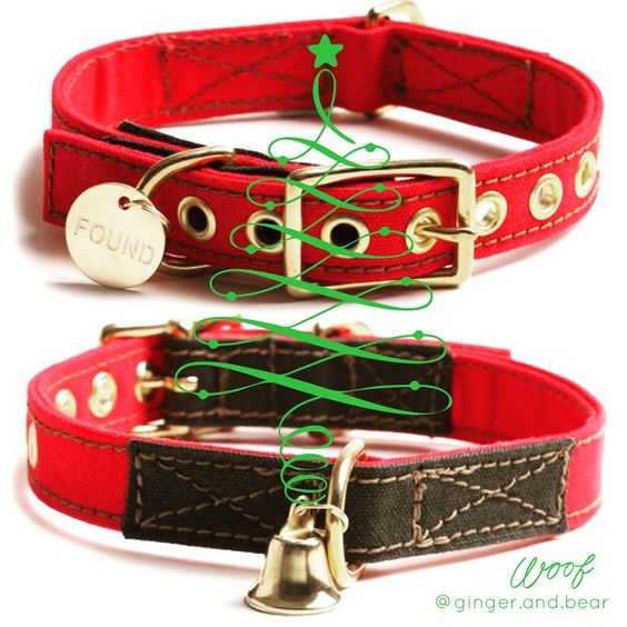 Dress your hound in Holiday style. Cotton Canvas collar on Holiday Red. It comes with light bell so Santa knows where to deliver pressies for the Nice doggie.  #gingerandbear #sniffoutsomethingspecial #designfordogs #dogmeetsdesign #dogculture #dogswag #stylishdog #stylishdogsg #clubpetsmag  #petsmagazinesg  #buzzfeed #petexposg #dogcollar #dogfashion #dogfashionista  #dogstyle #sgdogfashionista #sgstylishdog #dogleash #foundmyanimal