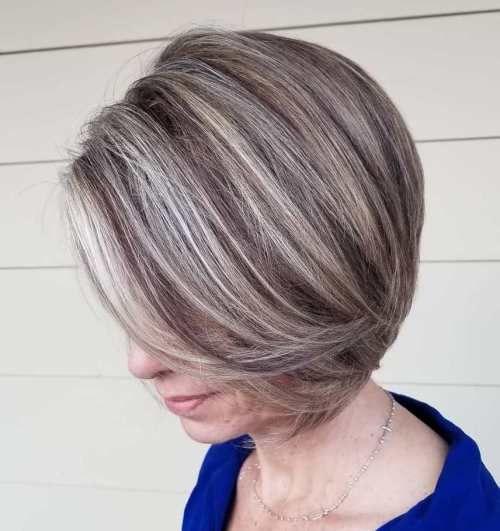 20 Zeitlose Haarfarben Fur Frauen Uber 50 Hochsteckfrisuren Club Haar Styling Graue Haare Highlights Heisse Haarfarben